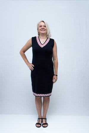 zenska sokacka haljina ruza naprijed