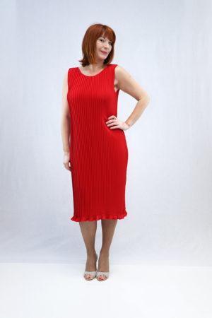 zenska haljina mia crvena naprijed