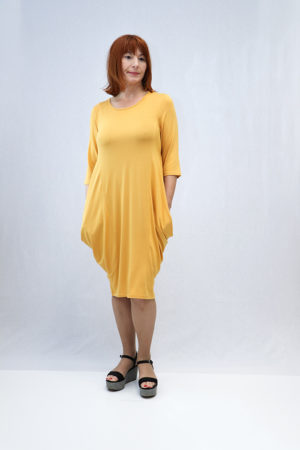 zenska haljina 3197441 žuta naprijed