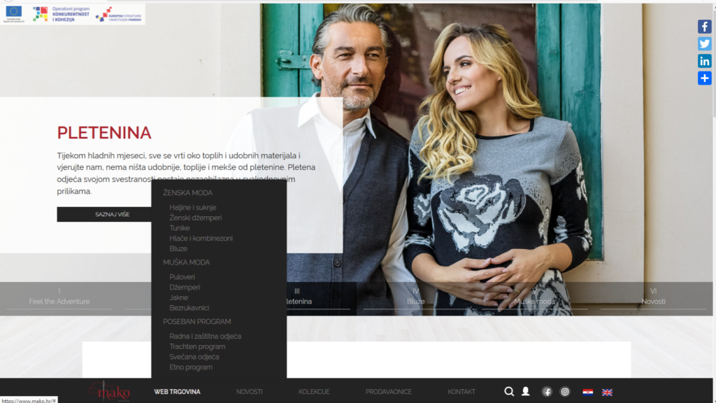 prikaz izbornika web