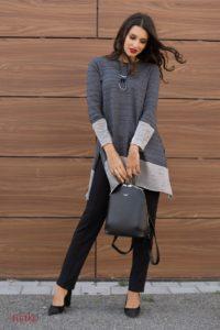 Mako_Knitted_Elegance_sivo_bijela_tunika
